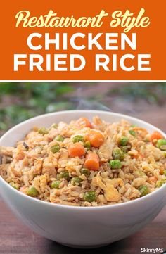 treat yourself to this Restaurant-Style Chicken Fried Rice dish and forget about compromising your healthy eating goals. Watch the recipe video...More
