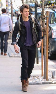 And also looks good just while walking around. | For Everyone Who Realizes Just How Insanely Perfect Ansel Elgort Is