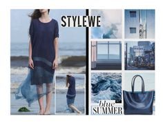 """""""Blue summer (StyleWe)"""" by hangar-knjiga ❤ liked on Polyvore featuring bag, bluedress and stylewe"""