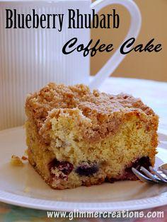 Blueberry Rhubarb Coffee Cake Recipe from www.glimmercreations.com