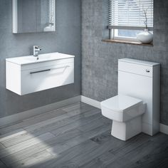 Browse the Nova Wall Hung Vanity Basin with WC Unit, Cistern & Pan. A fantastic choice for modern settings. Now in stock at Victorian Plumbing. Modern Small Bathrooms, Vanity Basin, Modern Bathroom, Wall Mounted Basins, Wall Hung Vanity, Basin Unit, Small Bathroom Remodel, Basin, Modern Bathroom Sink