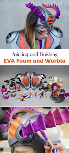 Once you've made a costume piece with Worbla or EVA foam, the real magic comes when you get to define its identity with color! There are a lot of techniques for finishing your costume pieces that can really make them resemble different materials.