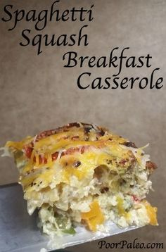 Spaghetti Squash Breakfast Casserole! Paleo (without cheese), Primal, Whole 30 and 21 day sugar detox compliant!