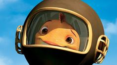*FISH OUT OF WATER ~ Chicken Little, goldfish who wears a scuba helmet filled with water and lives on the surface Kid Movies, Disney Movies, Disney Pixar, Chicken Little Disney, Him Band, Goldfish, Helmet, Water, Image Search