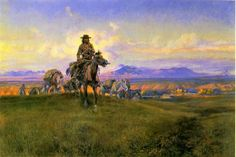 cm russell paintings | charles marion russell the romance makers painting-36156