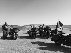 The Motley Crew....pit stop while riding 2015 Sturgis 75th Anniversary