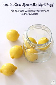 Did you know you have been storing your lemons the wrong way! It turns out there is a better way to store lemons that you probably have never heard of before. Click through to see how you should store your lemons the right way! This really works. Food Storage, Produce Storage, Fruit Storage, Storage Ideas, Lemon Recipes, Food Facts, Cakepops, Baking Tips, Store Lemons