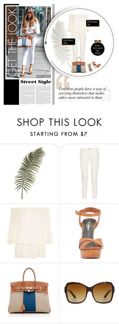 """Get the Look: Sofia Vergara"" by ealkhaldi ❤ liked on Polyvore featuring STELLA McCARTNEY, WearAll, Yves Saint Laurent, Hermès and Bulgari"