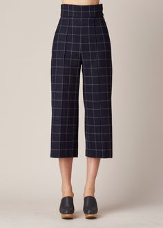 No. 6 Dietrich Cropped Pant (Navy)
