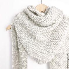 Diy Knitting Scarf, Diy Scarf, Free Knitting, Knitting Patterns, Beginner Knitting, Vogue Knitting, Scarf Patterns, Wool Scarf, Knit Crochet