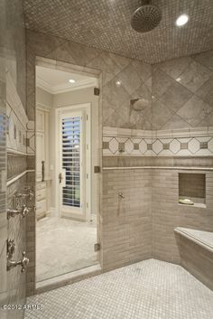 enormous walk-in shower-Wow!