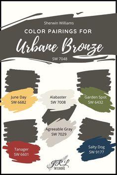 House Paint Exterior, Exterior Paint Colors, Exterior House Colors, Paint Colors For Home, Paint Colours, Urbane Bronze Sherwin Williams, Trending Paint Colors, Agreeable Gray, House Painting