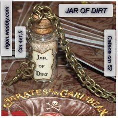 COLLANA JAR OF DIRT CON CHIAVE PIRATI DEI CARAIBI Jack Sparrow - VETRO