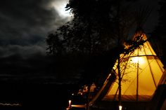 Village by moonlight by baine, via Flickr