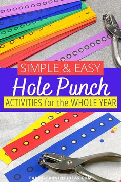 Fun Fine Motor Hole Punch Activities for the Whole Year