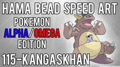 Hama Bead Speed Art   Pokemon   Alpha/Omega   Timelapse   115 - Kangaskhan