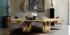 In the exclusive world of luxury dining design, let´s check out 15 of the luxurious italian dining tables you need to see. Tables Étroites, Narrow Dining Tables, Luxury Dining Tables, Small Dining, Contemporary Dining Table, Contemporary Furniture, Italian Dining, Dining Room Design, Dining Rooms