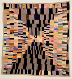 """Hourglass""Photo courtesy of Roderick Kiracofe ""Housetop, variation"" c. 1950-1975, African American From the book, ""Quilts"" by Roderick Kiracofe."