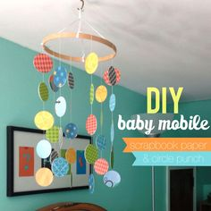 DIY Baby Mobile - instructions! We could use the same paper from our letter wall!