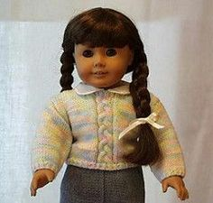 Ravelry: Very Easy Pullover for American girl or Doll pattern by Ceci Riehl Knitting Dolls Clothes, Ag Doll Clothes, Crochet Doll Clothes, Doll Clothes Patterns, Dress Patterns, Knitted Doll Patterns, Knitted Dolls, Knitting Patterns, American Doll Clothes
