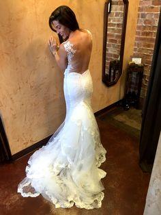 Galia Lahav Madison gown.  In love. Bustle. Backless gown. Wedding. Gown Wedding, Wedding Dresses, Backless Gown, Galia Lahav, Bustle, Mermaid Wedding, Gowns, Weddings, Vintage
