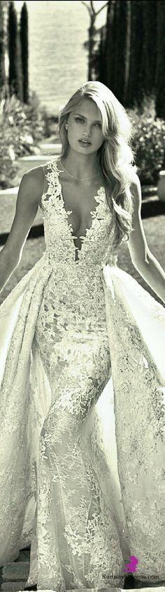 Pronovias, Nov Dec 2016, Bridal 2016, White, lace