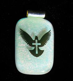 Prince of Peace Fused Dichroic Glass Pendant Necklace. Starting at $12 on Tophatter.com!