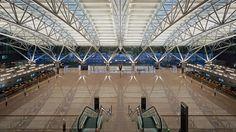 2005 Germany, Hamburg  Hamburg Airport, Terminal 1-gmp Architekten von Gerkan, Marg und Partner