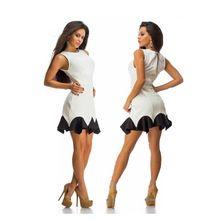 2015 Fashion womens summer mini dress Casual Sheath Conventional sleeve Sleeveless O-Neck Natural Color womens dress SWf8001(China (Mainland))
