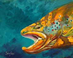 pisces-Fierce fish art