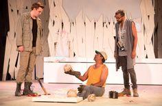 Frank Cox-O'Connell & Qasim Khan in Hamlet at Shakespeare in High Park in Toronto 2016 - photo Cylla von Tiedemann