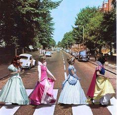 the beatles meet disney princesses- um yes!