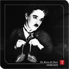 """""""Em Busca do Ouro"""", primeiro filme do inesquecível Charlie Chaplin, que estreou em 16 de agosto de 1925."""