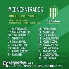 #Banfield #Independiente concentrados