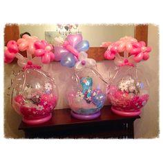 Centros de mesa con globos rellenos. #DecoracionConGlobos