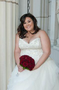 Strut bride Monica in her beautiful ballgown for her Las Vegas wedding. #strutbridal #plussize #wedding dress