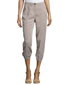 Lightweight Cropped Tapered Pants, Petite  by Eileen Fisher at Neiman Marcus.