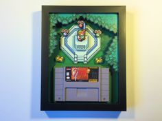 Zelda: A Link to the Past Cartridge Holder Shadow Box for SNES with (optional) Replica Cart
