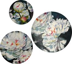 Floral trio - Peonies by Galina Kim l Mobile Art Gallery Mobile Art, Art For Sale, Peonies, Art Gallery, Abstract, Floral, Artist, Summary, Art Museum
