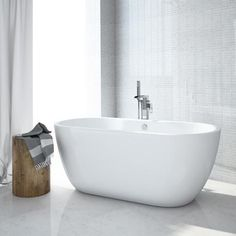 Verona Luxury Modern Double Ended Curved Freestanding Bath £449 Victorian plumbing.co.uk