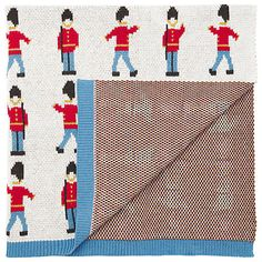 Buy Cath Kidston Guards Knitted Blanket, White/Multi Online at johnlewis.com