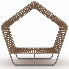 Banco público / moderno / de madera / de acero galvanizado URBAN RELAX by Martin…