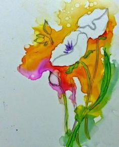 Alcohol Inks on Yupo by rosalyn