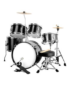 Take a look at this Black Complete Junior Drum Set by New Dimensions on #zulily today!
