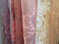 Embroidery featured on tulle for wedding dresses #TextileForum #Embellishment #Textiles #Fabric #Materials