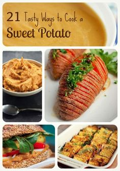 21 Tasty Ways to Cook Sweet Potatoes. I've been wanting to try working with sweet potatoes.