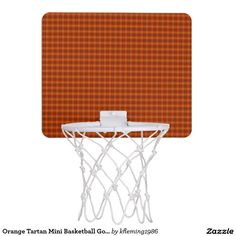 Orange Tartan Mini Basketball Goal Mini Basketball Hoop
