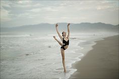 #Ballerina - @julietdoherty at #SantaMonicaBeach #LosAngeles #LA #SantaMonica #Swimsuit by @normakamali #NormaKamali #ballerinaproject_ #ballerinaproject #ballet #dance #beach by ballerinaproject_