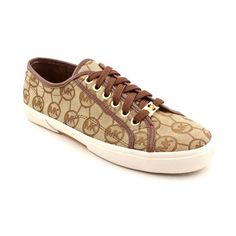 MICHAEL MICHAEL KORS Women's Boerum Sneaker -           Product Description  MICHAEL MICHAEL KORS Women's Boerum Sneaker                                 Lightly cushioned footbed Lace Up style; Signature logo on back heel, top lace, and interior footbed Mocha brown MK monogram upper; Round toe; Rubber sole Color: Mocha / Gold... - http://shoes.goshopinterest.com/womens/fashion-sneakers/michael-michael-kors-womens-boerum-sneaker/
