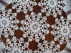 Handmade White Round Crochet Doily: Candytuft - My CMS Crochet Flower Patterns, Doily Patterns, Crochet Flowers, Crochet Diagram, Crochet Motif, Crochet Stitches, Crochet Table Runner, Crochet Tablecloth, Crochet Dollies
